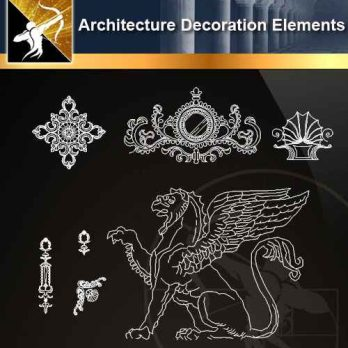 ★【 Free Architecture Decoration Elements V.6】