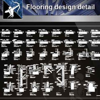 【Architecture CAD Details Collections】Flooring design detail cad files