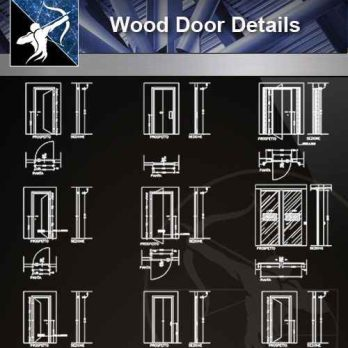 【Architecture CAD Details Collections】Door Details,Main Gate CAD Details
