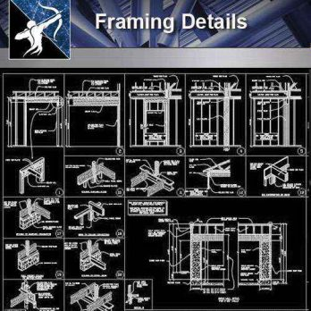 【Architecture CAD Details Collections】Framing CAD Details